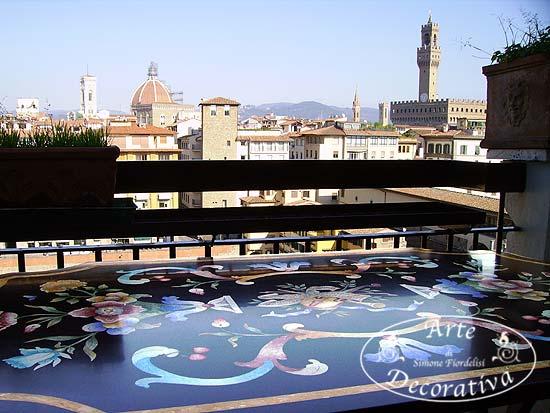 Tavoli Di Marmo Intarsiati : Laboratorio artigiano arte decorativa firenze: tavoli di mosaico e