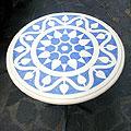 Arte Decorativa di Fiordelisi Simone: Tavoli, Motivo geometrico blu