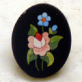 "Arte Decorativa di Fiordelisi Simone: Objects, Pin with Rose and Flower, 0,9""x0,7""."