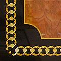 Arte Decorativa di Fiordelisi Simone: Tables, Onyx rouge avec motif geometrique