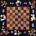 Arte Decorativa di Fiordelisi Simone: Tables, Chessboard with Flowers and Butterflies