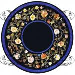 Arte Decorativa di Fiordelisi Simone: Tables, Round of roses with butterflies